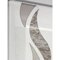 Heineheine home Schiebevorhang, weiß, Klettschiene, offwhite/braun