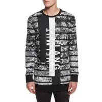 Helmut LangLogo Graphic Oversized Sweater, Black Multi