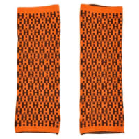 HermèsHermes Brown & Orange Knit Reversible h Logo Fingerless Arm Warmers