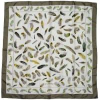 HermèsHermes Plumes Feather Print 90cm Silk Scarf