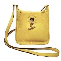 HermèsRare Hermes Yellow Clemence Leather Tpm Mini Vespa Shoulder Bag