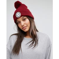 HerschelHerschel Knitted Bobble Beanie in Wine - Windsor wine