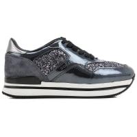 HoganSneaker Femme Pas cher en Soldes, Gris, Cuir vernis, 2016, 35 35.5 36.5 37 37.5 38.5 39