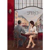 HOME AFFAIREArtprint op linnen Cafe, afm. 60x80 cm