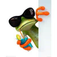HOME AFFAIREHome affaire, Deco Panel »Frosch trinkt« 40/50 cm