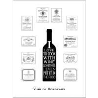 HOME AFFAIREHome affaire gerahmter Kunstdruck »Wein aus Bordeaux« Statement, 33/43 cm