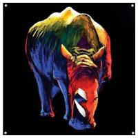 HOME AFFAIREHome Affaire Glasbild, »Majestic Rhino«, 100/100/0,5 cm