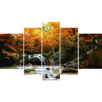 HOME AFFAIRELeinwandbild, Home affaire, »Herbstlicher Wasserfall«, in 2 Größen