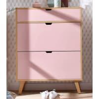 HOME AFFAIRESchuhkommode »Pastel«, rosa, rosa/eichefb