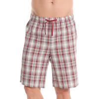 HoncelacKarierte Pyjama-Shorts, reine Baumwolle