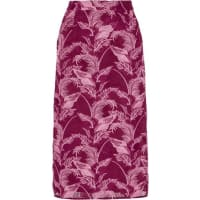 House Of HollandCrocheted Lace Midi Skirt - Burgundy