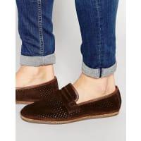 HudsonPlatt Suede Deconstructed Loafers - Brown
