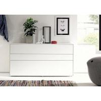 HülstaSideboard »now! easy«, Breite 128 cm, weiß, Lack reinweiß