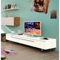 HülstaTV-Lowboard »now! time«, Breite 190 cm, weiß, Lack weiß