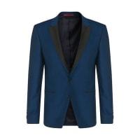 HUGO BOSSVeste de costume Extra Slim Fit en laine vierge dotée dun revers en pointe : « Alery »530.00