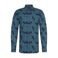 HUGO BOSSFloral gemustertes Extra Slim-Fit Hemd aus Baumwolle: Elisha
