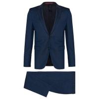 HUGO BOSSCostume Slim Fit en laine vierge finement structurée : « Astian/Hets »635.00