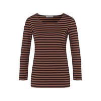 HUGO BOSSGestreiftes Shirt aus Stretch-Baumwolle mit Dreiviertel-Ärmeln: Emmisa