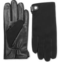 HUGO BOSSHarios Gabardine And Leather Gloves - Schwarz