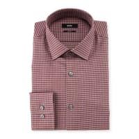 HUGO BOSSJenno Slim-Fit Tonal-Herringbone Dress Shirt, Burgundy