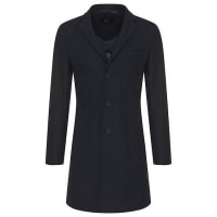 HUGO BOSSCotton-blend coat with lapel collar: Shawn2