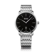 HUGO BOSS2-hand watch in stainless steel with link strap: Signature Timepiece