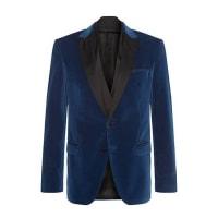 HUGO BOSSRegular-fit cotton jacket with silk detailing: Havit