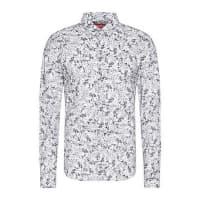 HUGO BOSSGemustertes Slim-Fit Hemd aus Baumwolle: Ero3