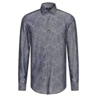 HUGO BOSSFinely patterned slim-fit cotton shirt: Jenno