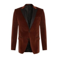HUGO BOSSSlim-fit cotton jacket with silk detailing: Haimon