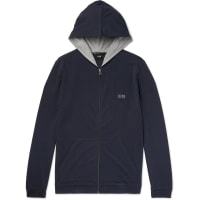 HUGO BOSSStretch-cotton Jersey Hoodie - Blue