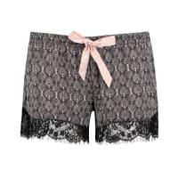 HunkemöllerSatin Print Pyjama Shorts Black