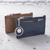 Hurley BurleyLeather Purse With Personalised Silver Charm Keyring