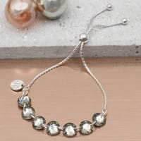 Hurley BurleySwarovski Crystal And Silver Personalised Bracelet