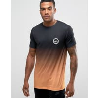 HypeGradient T-Shirt With Crest Logo - Black