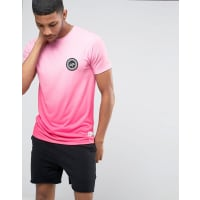 HypeGradient T-Shirt With Crest Logo - Pink