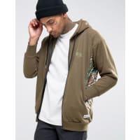 HypeHoodie With Camo Panels - Khaki