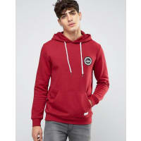 HypeHoodie With Crest Logo - Red