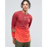 HypeT-shirt à manches longues - Dégradé rouge - Rouge