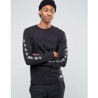 HypeLong Sleeve T-Shirt With Arm Print - Black