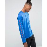 HypeLong Sleeve T-Shirt With Arm Print - Blue