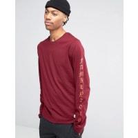 HypeT-shirt à manches longues imprimées - Rouge