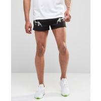 HypeRetro Shorts In Souvenir Print - Black