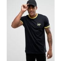HypeT-shirt à bordures contrastantes - Noir