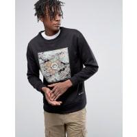 HypeSweatshirt With Bandana Print - Black