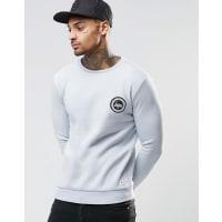 HypeSweatshirt With Crest Logo - Blue