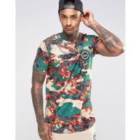 HypeT-shirt imprimé bandana et camouflage avec logo armoiries - Multi