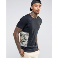 HypeT-Shirt With Bandana Side Print - Black