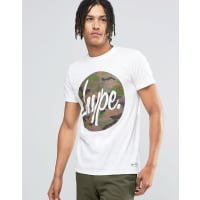 HypeT-Shirt With Camo Script Logo - White