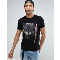HypeT-shirt imprimé loup - Noir